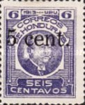 [General Terencio Sierra and General Manuel Bonilla - Stamps of 1913 Surcharged, type Q4]