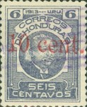 [General Terencio Sierra and General Manuel Bonilla - Stamps of 1913 Surcharged, type Q5]