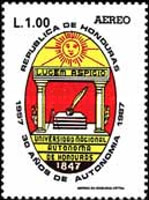 [Airmail - The 30th Anniversary of Honduras National Autonomous University, Typ QE]