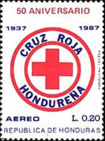 [Airmail - The 50th Anniversary of Honduras Red Cross, Typ QF]