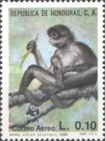 [Airmail - The Black-handed Spider Monkey, type QR]