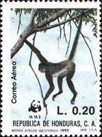 [Airmail - The Black-handed Spider Monkey, type QT]