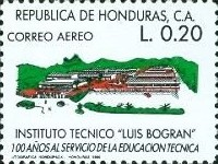 [Airmail - The 100th Anniversary of Luis Bogran Technical Institute, Tegucigalpa, type QV]