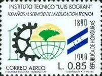 [Airmail - The 100th Anniversary of Luis Bogran Technical Institute, Tegucigalpa, type QW]
