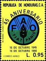 [Airmail - The 45th Anniversary of F.A.O., type QX]