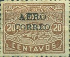 "[Ulua Bridge & Bonilla National Theatre - Stamps of 1915 Overprinted ""AEREO CORREO"", type R5]"
