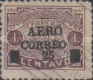"[Airmail - Ulua Bridge & Bonilla National Theatre - Stamps of 1915 Overprinted & Surcharged ""AERO CORREO 25"", type R6]"
