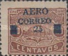 "[Airmail - Ulua Bridge & Bonilla National Theatre - Stamps of 1915 Overprinted & Surcharged ""AERO CORREO 25"", type R7]"