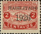 "[Bonilla National Theatre & Francisco Morazan Monument - Stamps of 1915 & 1919 Overprinted ""HABILITADO 1926"", type R8]"