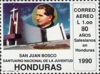 [Airmail - The 80th Anniversary of Salesian Brothers in Honduras, type RF]