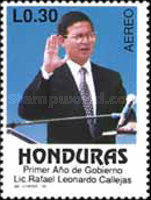 [Airmail - The 1st Anniversary of Presidency of Rafael Leonardo Callejas, type RG]