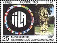 [Airmail - The 25th Anniversary of Italian-Latin American Institute, type RQ]