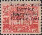 [Airmail - Official Stamps of 1915-1929 Surcharged, type S26]
