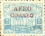 "[Ulua Bridge & Bonilla National Theatre - Stamps of 1915 Overprinted ""AEREO CORREO"", type S4]"