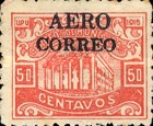 "[Ulua Bridge & Bonilla National Theatre - Stamps of 1915 Overprinted ""AEREO CORREO"", type S5]"