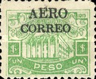 "[Ulua Bridge & Bonilla National Theatre - Stamps of 1915 Overprinted ""AEREO CORREO"", type S6]"