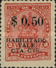 "[Francisco Morazan Monument - Stamps of 1919 Overprinted ""HABILITADO VALE DIEZ CTS"" & Surcharged Value, type U12]"