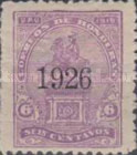 [Francisco Morazan Monument - Stamp of 1919 Overprinted
