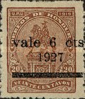 "[Previous Issues Overprinted ""Vale 6 Cts 1927"" and Surcharged, type U20]"