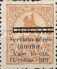 [Airmail - Official Stamps of 1915-1929 Surcharged, type U45]
