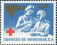 [Red Cross - Issue of 1969 Surcharged, type UG1]