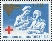 [Red Cross - Issue of 1969 Surcharged, type UG2]