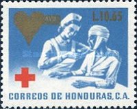 [Red Cross - Issue of 1969 Surcharged, type UG3]
