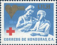 [Red Cross - Issue of 1969 Surcharged, type UG4]