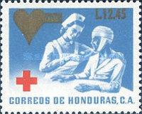 [Red Cross - Issue of 1969 Surcharged, type UG5]