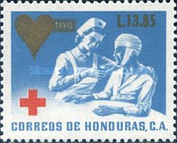 [Red Cross - Issue of 1969 Surcharged, type UG6]