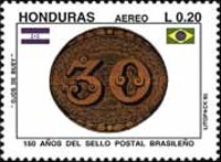 [Airmail - The 150th Anniversary of 1st Brazilian Stamps, Typ UO]