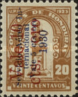 [Airmail - Bust of Dionisio de Herrera & Bonilla National Theatre Surcharged, Typ X11]