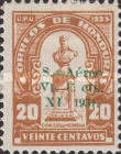 [Airmail - Bust of Dionisio de Herrera - Stamp of 1924 Surcharged