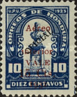 """[Airmail - Bust of Dionisio de Herrera -  Overprinted """"Aereo interior VALE 15 Cts 1932"""" and Surcharged, type X25]"""