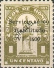 [Airmail - Bust of Dionisio de Herrera - Official Stamps of 1924 Overprinted