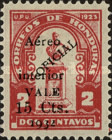 [Airmail - Bust of Dionisio de Herrera - Official Stamps of 1924 Surcharged, type X36]