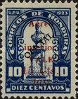 [Airmail - Bust of Dionisio de Herrera - Official Stamps of 1924 Surcharged, type X38]