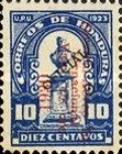 [Airmail - Bust of Dionisio de Herrera - Official Stamps of 1924 Surcharged, type X39]