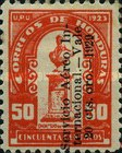 [Airmail - Bust of Dionisio de Herrera - Stamps of 1924 Overprinted and Surcharged, type X9]