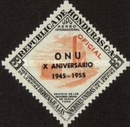 [Airmail - The 10th Anniversary of the United Nations - Official Stamps of 1953 & Postage Stamps of 1953 Overprinted