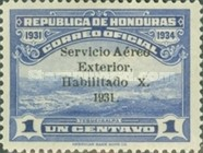 [Airmail - View of Tegucigalpa - Official Stamps of 1931 Overprinted