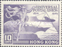 [The 75th Anniversary of the Universal Postal Union (U.P.U.), Typ AD]