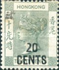 [No. 43 & Not Issued Stamps Surcharged & Handstamped in Chinese, type H]