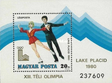[Airmail - Winter Olympic Games - Lake Placid, USA, Typ ]