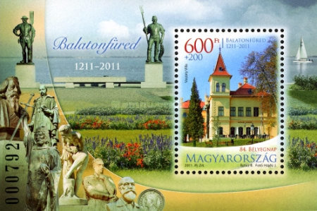 [The 84th Stamnp Day - The 800th Anniversary of the City of Balatonfured, type ]