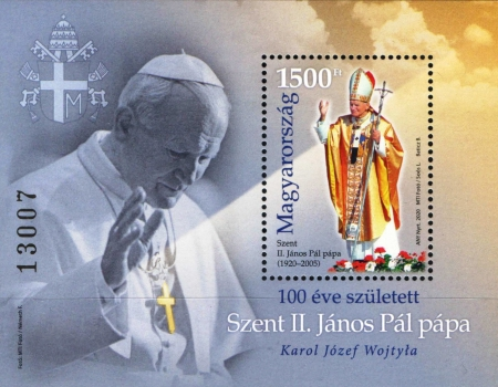 [The 100th Anniversary of the Birth of Saint Pope John Paul II, 1920-2005, type ]