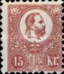 [King Franz Joseph  - Lithographed, type A7]