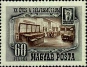 [The 20th Anniversary of the Postage Stamp Museum, Budapest, type AIX]