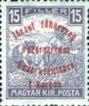 [Reaper Stamps of 1916 Overprinted - Archduke Gen. Joseph's Military Exhibition, type BD1]