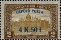 [Airmail - Parliament Stamps of 1917 Surcharged, type BF1]